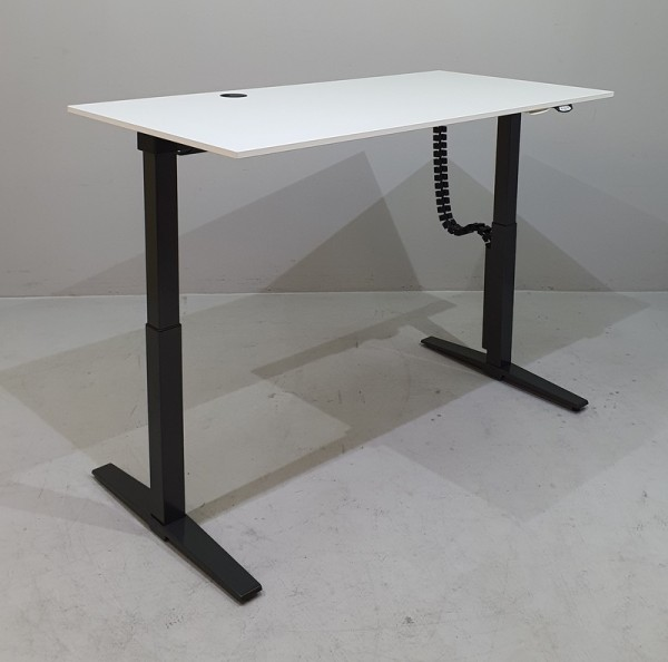 K & N - Steh-Sitz-Schreibtisch 160 cm, weiß Talo.S