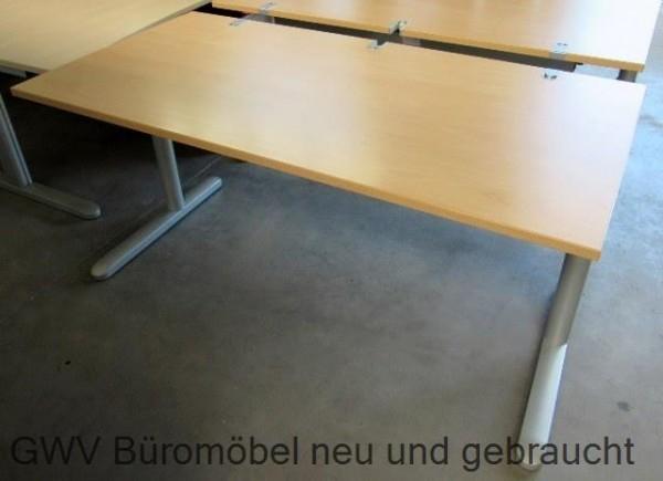 Ceka Schreibtisch Hohenverstellbar Breit 160 Cm Dekor Buche