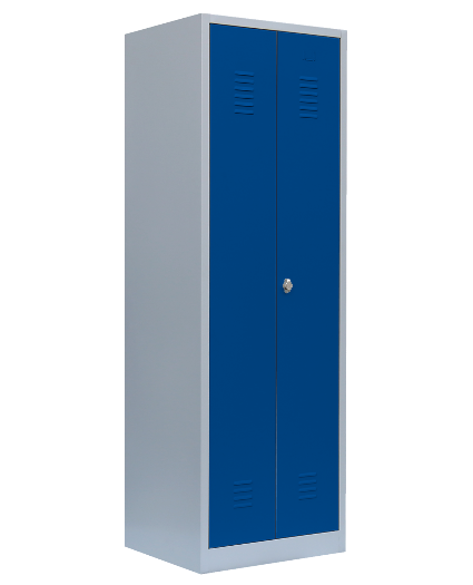 Stahl- Besen- / Putzmittel- Schrank, B 80 cm