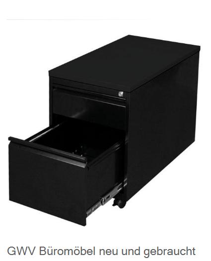 Stahl- Rollcontainer T 80 cm, schwarz