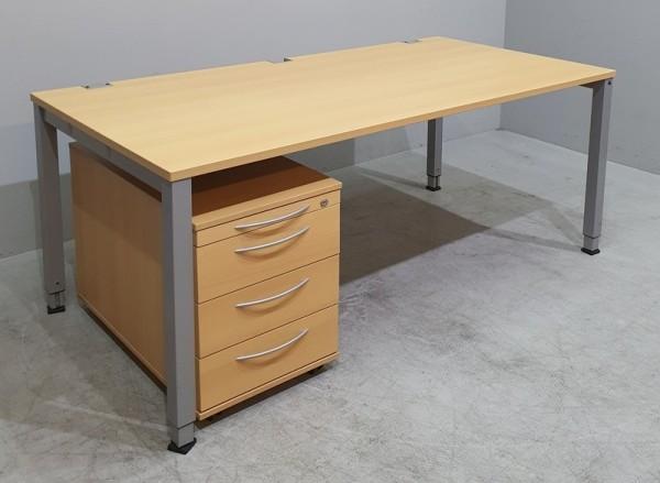 K & N - Set 2-teilig - Tisch 180 cm + Container