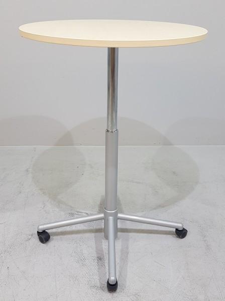 K & N - Steh-Sitz-Besprechungstisch D 80, ahorn