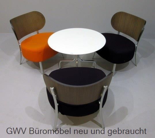 Sitzgruppe 3-teilig - Tisch + 3 x Design Stuhl