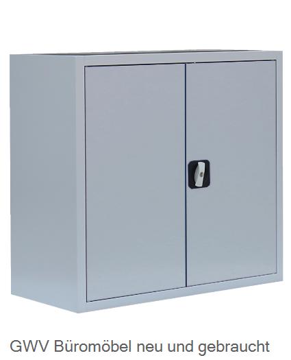 Stahl- Akten- Sideboard 2 OH, B 80 cm lichtgrau