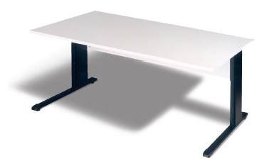 Schreibtisch B 160 cm, grau