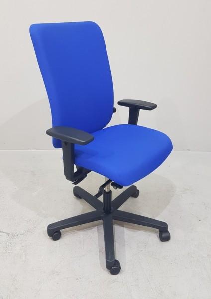 K & N - Bürodrehstuhl mit Armlehnen, blau