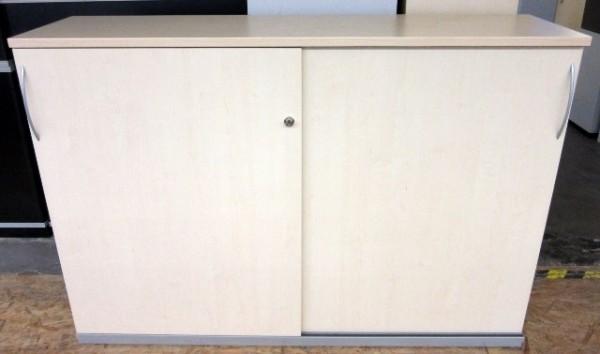 Haworth - Schiebetürenschrank 3 OH, B 160 cm ahorn