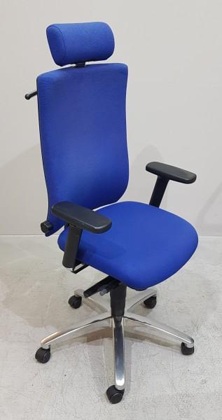 Dauphin magic - Bürodrehstuhl blau m. Kopfst.