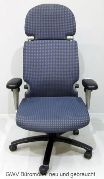 Comforto Buerodrehstuhl Blau Online Kaufen Bei Der Gwv Stoffbezug