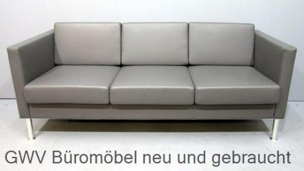 Sofa Loungemöbel Leder Sofa Büro Empfang Gäste Büromöbel günstig neu ...