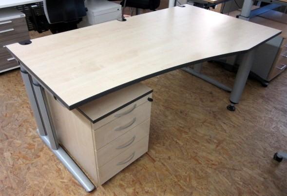 MBT - FF- Schreibtisch B 180 cm + Rollcontainer