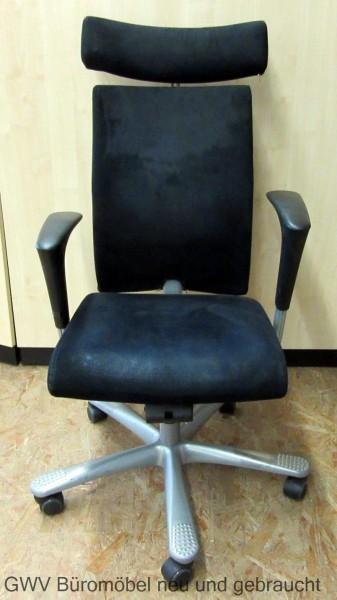 HAG - Bürodrehstuhl inkl. Kopfstütze schwarz