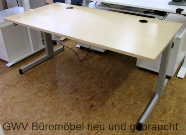 steelcase steh sitz schreibtisch 160 cm ahornb 160 x t 80 cm elektromotorisch. Black Bedroom Furniture Sets. Home Design Ideas
