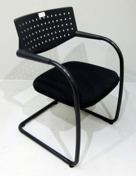 Vitra - VisaVis - Freischwinger schwarz / schwarz