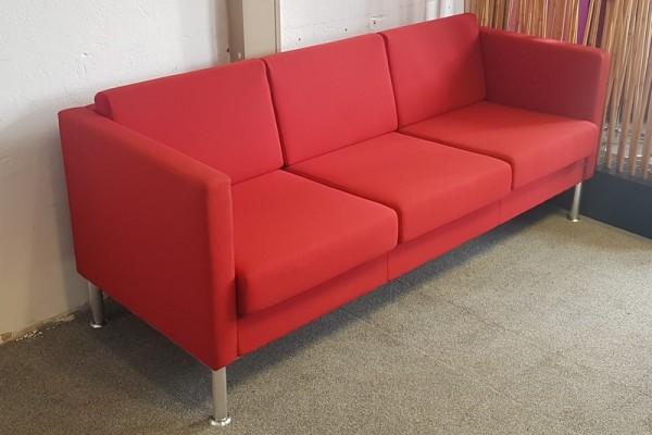 SMV - Sofa 3-sitzer B 190 cm Stoff rot