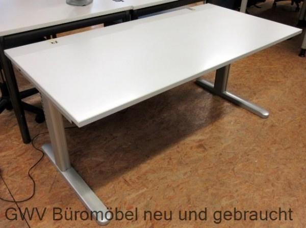 CEKA - Steh- Sitz- Schreibtisch 160 cm, grau