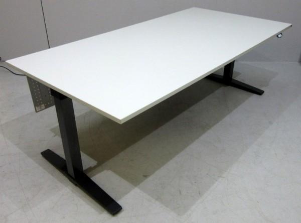 K & N - Steh- Sitz- Schreibtisch 200 x 80 cm, grau