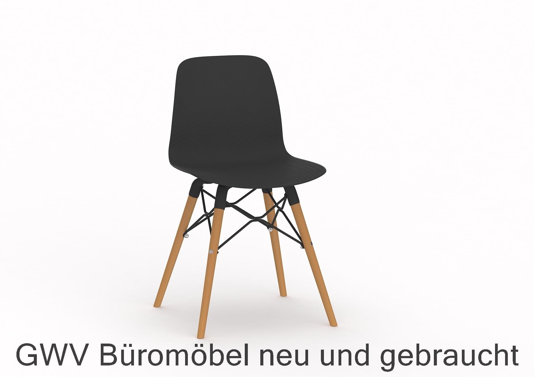 Besucherstuhl, Kantinenstuhl, Formschalenstuhl, Kunststoffschale ...