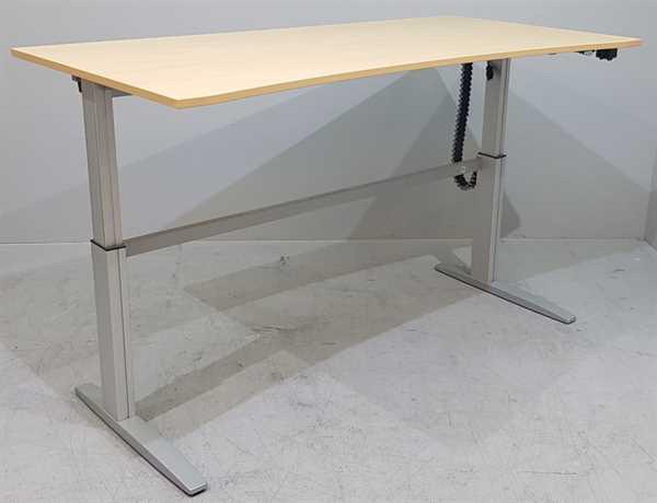 CEKA - Steh- Sitz- Schreibtisch 200 cm, buche Ergo