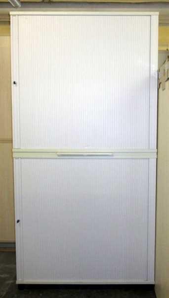 Haworth - Querrolloschrank 6 OH, B 120 cm weiß