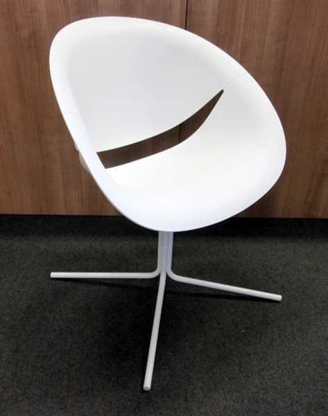 Besucherstuhl - Design Schalenstuhl weiß