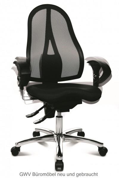 Express 021 - Bürodrehstuhl mit Netzrücken schwarz