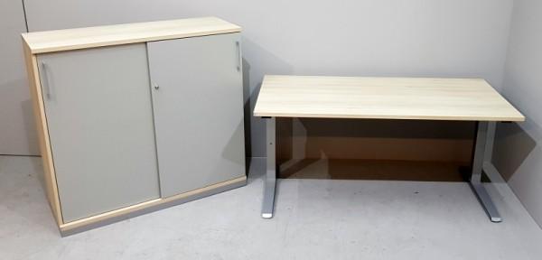 fm - Arbeitsplatz 2-teilig Tisch + Sideboard