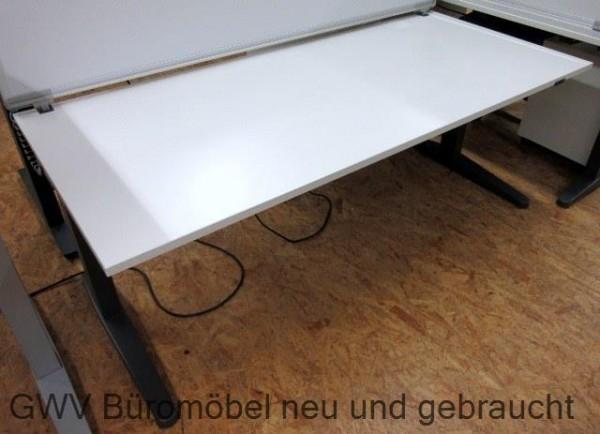 Steelcase - Steh- Sitz- Schreibtisch 180 cm, weiß