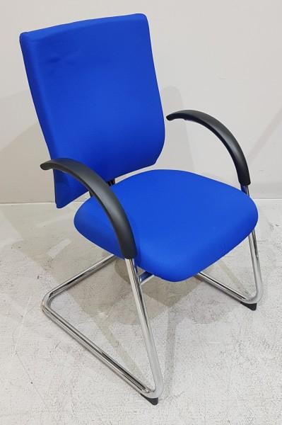 Dauphin - Freischwinger blau, Gestell chrom