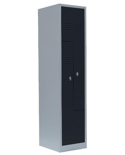 Stahl- Fächer- Schrank 2- Fächer, anthrazitgrau