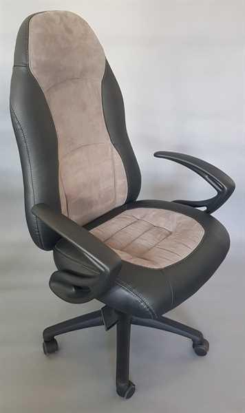 Chefsessel - Speed Chair, Leder schwarz/grau