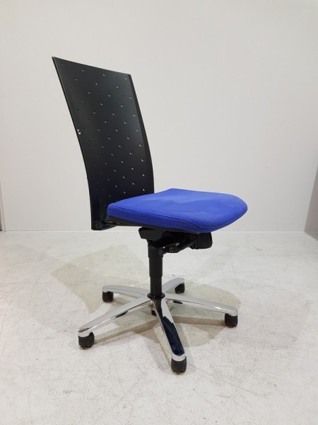 K & N - Bürodrehstuhl blau gemustert o.AL
