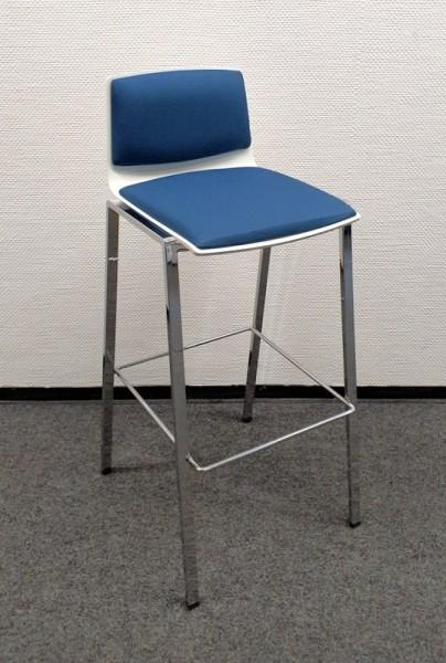 K & N - Barhocker weiß / blau