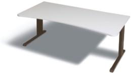 Ergo- Schreibtisch B 180 cm, grau