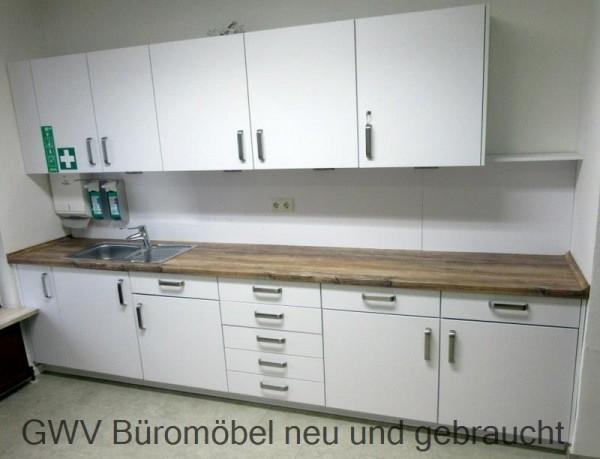 Küchenzeile L ca. 300 cm weiß