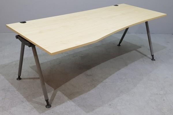 Schärf - Freiform - Schreibtisch 200 cm (L), ahorn