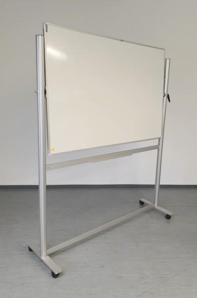 Whiteboard / Drehtafel auf Rollen 160 x 200 cm
