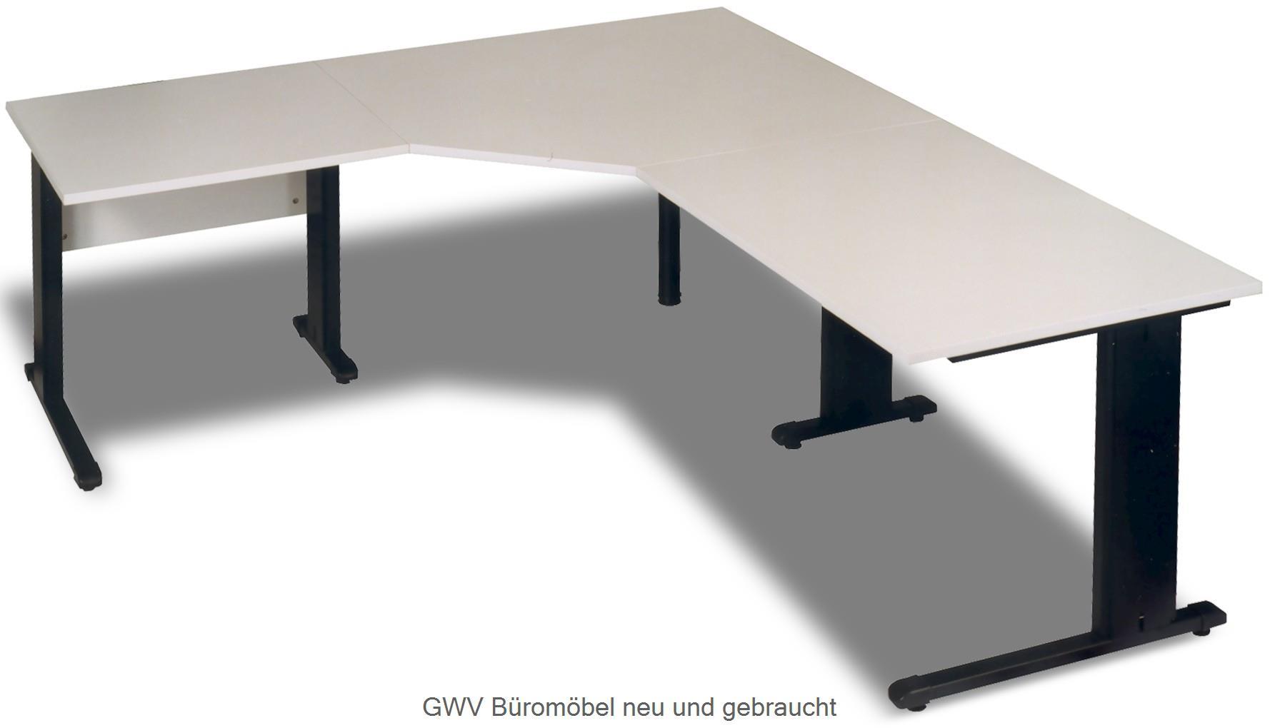 Winkelschreibtisch lichtgrau 200 x 280 cm neuware | GWV Büromöbel ...