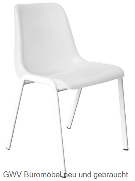 Kunststoff- Formschalen- Stapelstuhl, weiß
