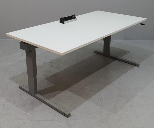 Steelcase - Schreibtisch 160 cm HV, weiß/ silber