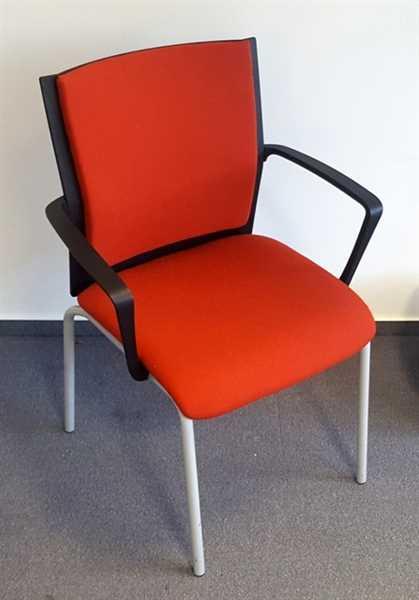 Steelcase - Besucherstuhl mit AL, rostrot/ schwarz