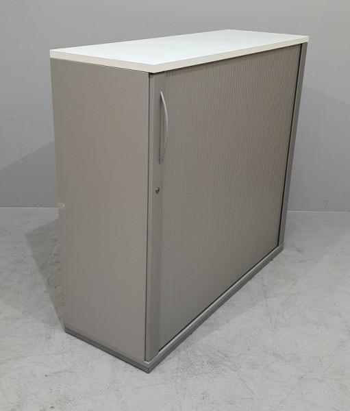 K & N - Querrolloschrank 3 OH, B 120 cm weiß/grau