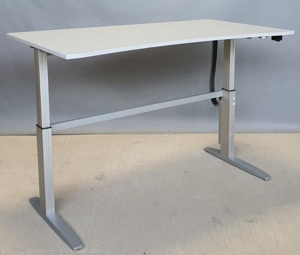 CEKA - Steh-Sitz-Schreibtisch 200 cm, grau Ergo