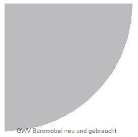Verkettungsplatte - Viertelkreis, grau