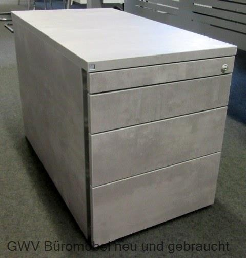 Rollcontainer T 80 cm, Dekor beton