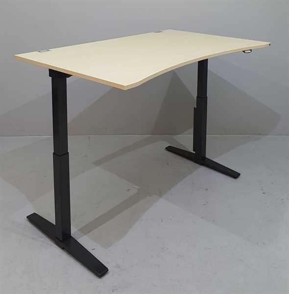 K & N - Steh-Sitz-Schreibtisch 160 cm,ahorn Talo.S