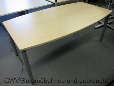 besprechungstisch ahorn 180 x 100 cm rundfußgestell gebraucht tisch ...