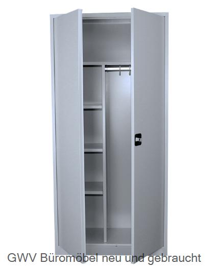 stahlaktenschrank kleiderschrank hoehe 180 cm grau gwv b rom bel gebraucht sofort lieferbar. Black Bedroom Furniture Sets. Home Design Ideas