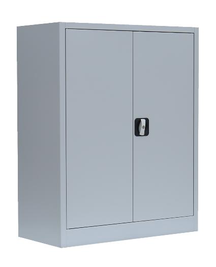 Stahl- Akten- Sideboard 2,5 OH, B 80 cm lichtgrau