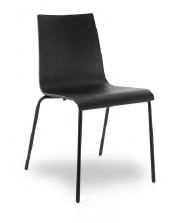 Besucherstuhl - Turin, Sitzschale schwarz